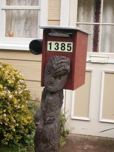 Leuk postbusje, maar niet de onze.