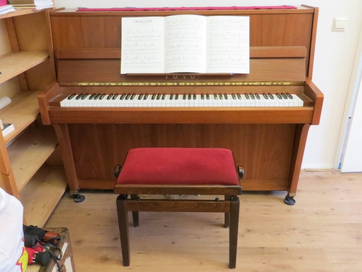 Dag piano! Het ga je goed.